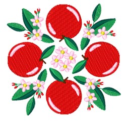 Apples embroidery design
