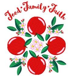 Food Family Faith embroidery design
