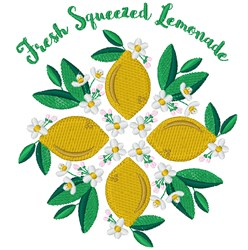 Fresh Squeezed Lemonade embroidery design