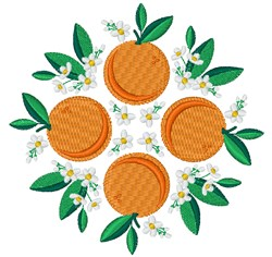 Oranges embroidery design
