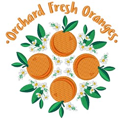 Orchard Fresh Oranges embroidery design