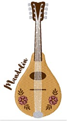 Mandolin Instrument embroidery design