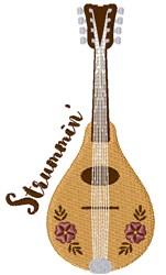 Strummin Mandolin embroidery design