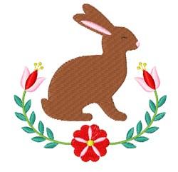 Folk Art Bunny embroidery design