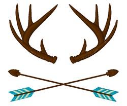 Deer Antlers & Arrows embroidery design