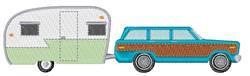 Retro Camper embroidery design