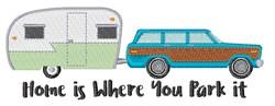 Where You Park Home embroidery design