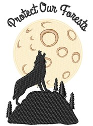 Protect Our Forests embroidery design