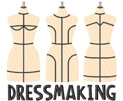 Dressmaking embroidery design