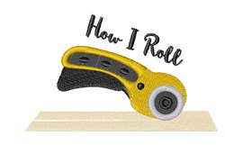 How I Roll embroidery design