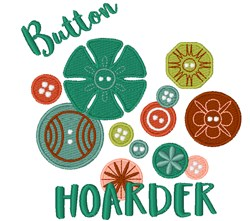 Button Hoarder embroidery design