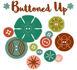 Buttoned Up embroidery design