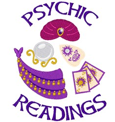 Psychic Readings embroidery design