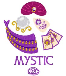Mystic embroidery design