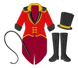 Circus Ringmaster Suit embroidery design