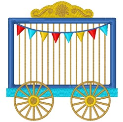 Circus Cage embroidery design
