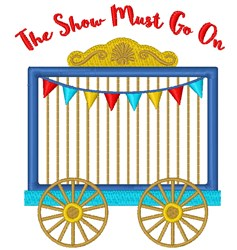 Show Must Go On embroidery design