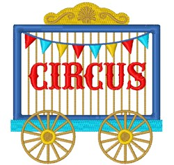 Circus embroidery design