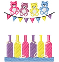 Ring Toss Game embroidery design