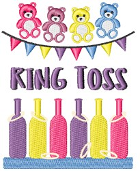 Ring Toss embroidery design
