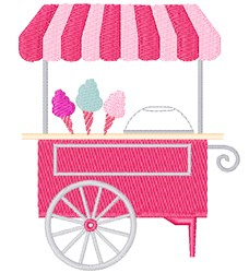 Cotton Candy Cart embroidery design