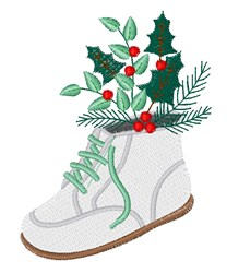 Holiday Baby Shoe embroidery design