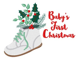 First Christmas embroidery design