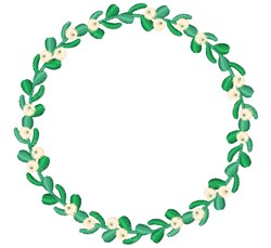 Mistletoe Wreath embroidery design