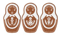 Gingerbread Matryoshka embroidery design