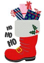 Ho Ho Ho Boot embroidery design