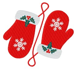 Christmas Mittens embroidery design