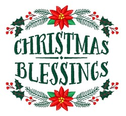 Christmas Blessings embroidery design