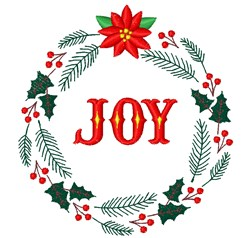 Joy Wreath embroidery design