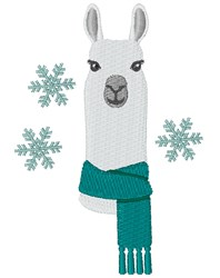 Winter Alpaca embroidery design