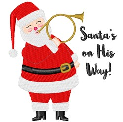 Santa On His Way embroidery design