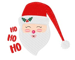 Ho Ho Ho Santa embroidery design