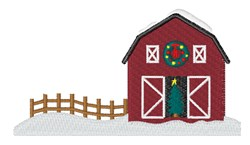 Christmas Barn embroidery design
