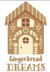 Gingerbread Dreams embroidery design