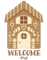 Gingerbread Welcome embroidery design