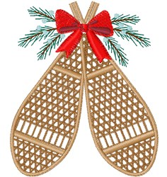 Winter Snowshoes embroidery design