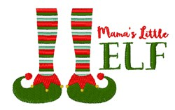 Mamas Little Elf embroidery design
