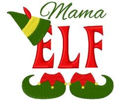 Mama Elf embroidery design