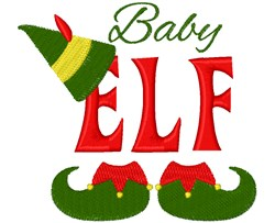 Baby Elf embroidery design