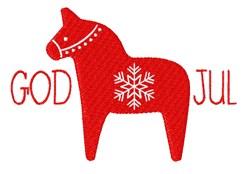 God Jul embroidery design