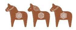 Christmas Dala Horses embroidery design