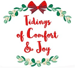 Tidings of Comfort embroidery design