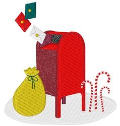 Christmas Mailbox embroidery design
