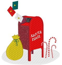 Santa Mail embroidery design