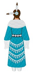 Native American Woman embroidery design