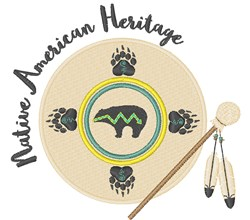 Native American Heritage embroidery design